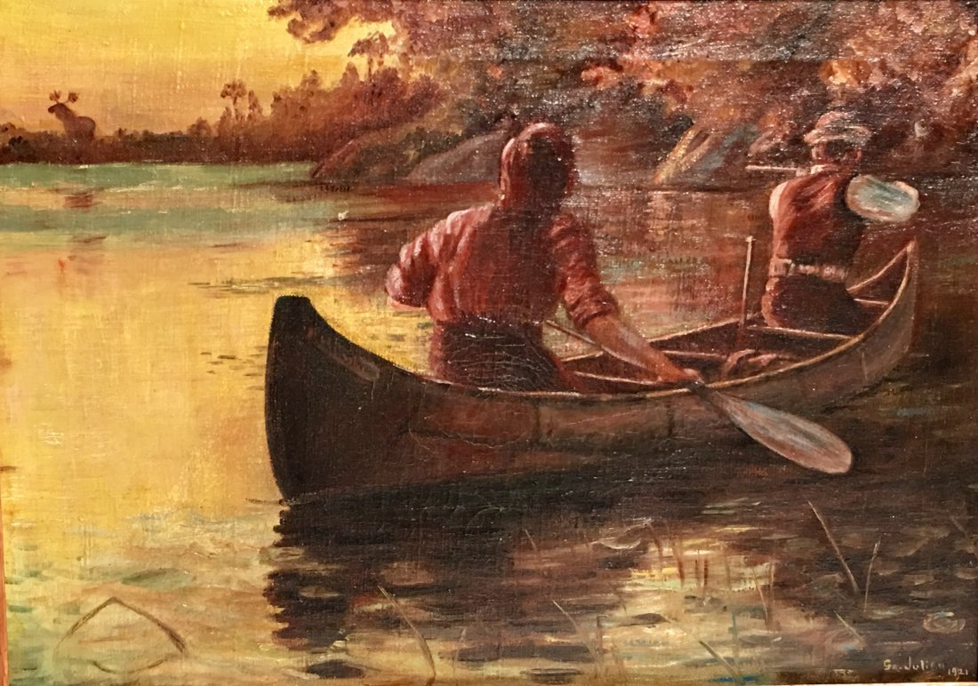 MEN IN A ROWBOAT BY GEORGE BENNETT JULIAN - 6