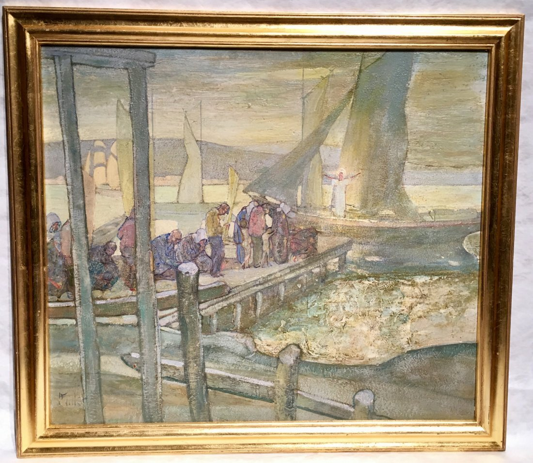 ORIGINAL RICHARD EDWARD MILLER OIL AMERICAN PAINTING
