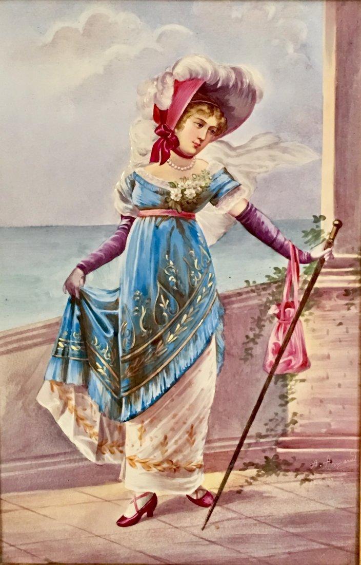 19TH CENTURY LADY PORCELAIN PLAQUE-SEVRES