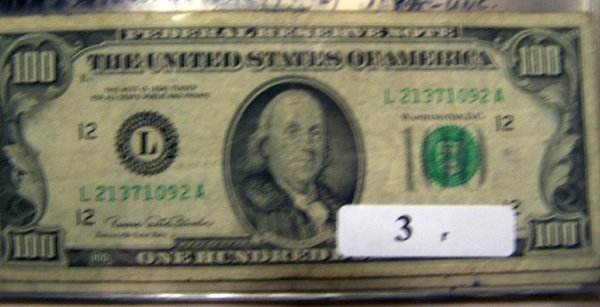 3: 1  $100.00 NOTES       1969C  VG