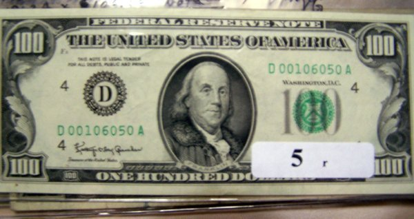 5: 1  $100.00 NOTES       1963A  XF