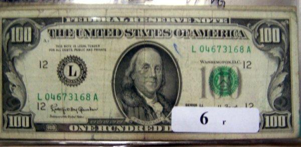 6: 1  $100.00 NOTES       1963A  VG