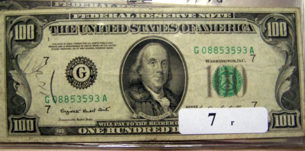 7: 1  $100.00 NOTES       1950C  VG