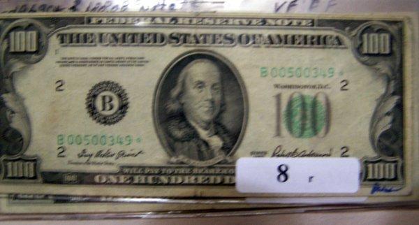 8: 1  $100.00 NOTES      1950B  VF