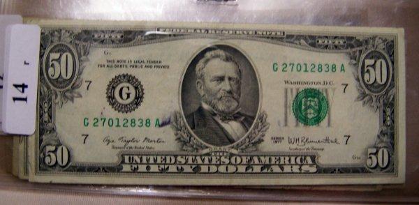 14: 1  $50.00 NOTES        1977  VF