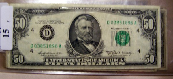 15: 1  $50.00 NOTES        1969A  F