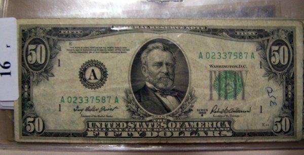 16: 1  $50.00 NOTES        1950B  VF
