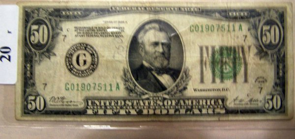 20: 1  $50.00 NOTES         1928A  F-12