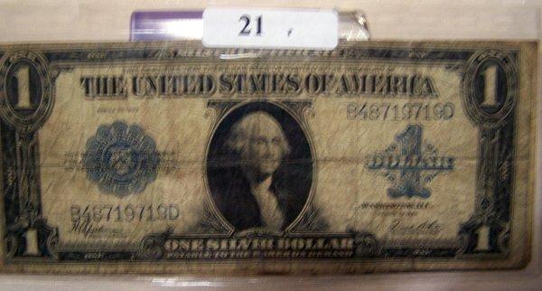 21: 2  LARGE NOTES       2-1923    $1.00 BILLS  G