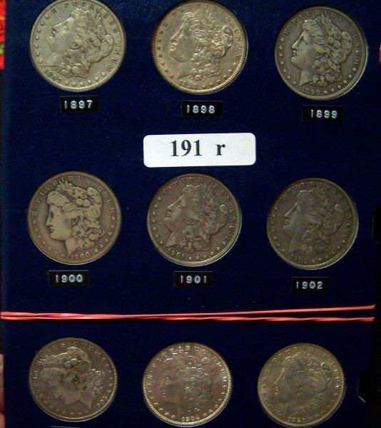 191: 9 MORGAN SILVER $    ~ 1897 ~ 1898 ~ 1899 ~  1900