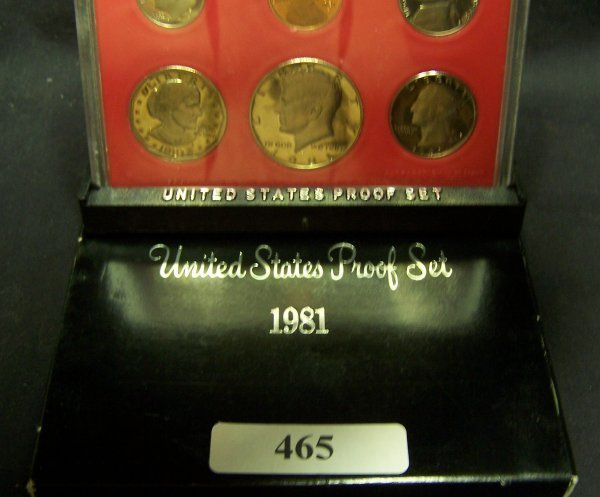 465: 1 1981   US PROOF      SET         TYPE - 2