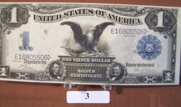 1003: 1899- BLACK EAGLE-SILVER CERTIFICATE  PRISTINE