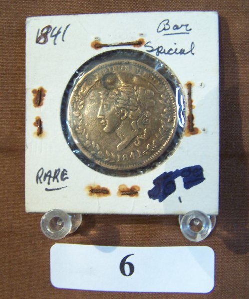 1006: 1841-HARD TIMES TOKEN  PUNCHED