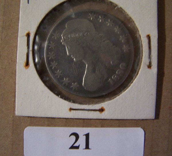 1021: 1830 CAPPED BUST I/2 DOLLAR  F