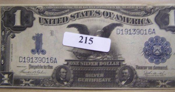 1215: BLACK EAGLE SILVER CERTIFICATE / GEM CONDITION