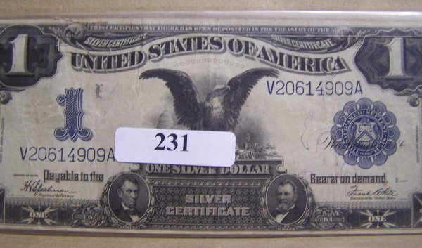 1231: BLACK EAGLE SILVER CERTIFICATE / GEM CONDITION