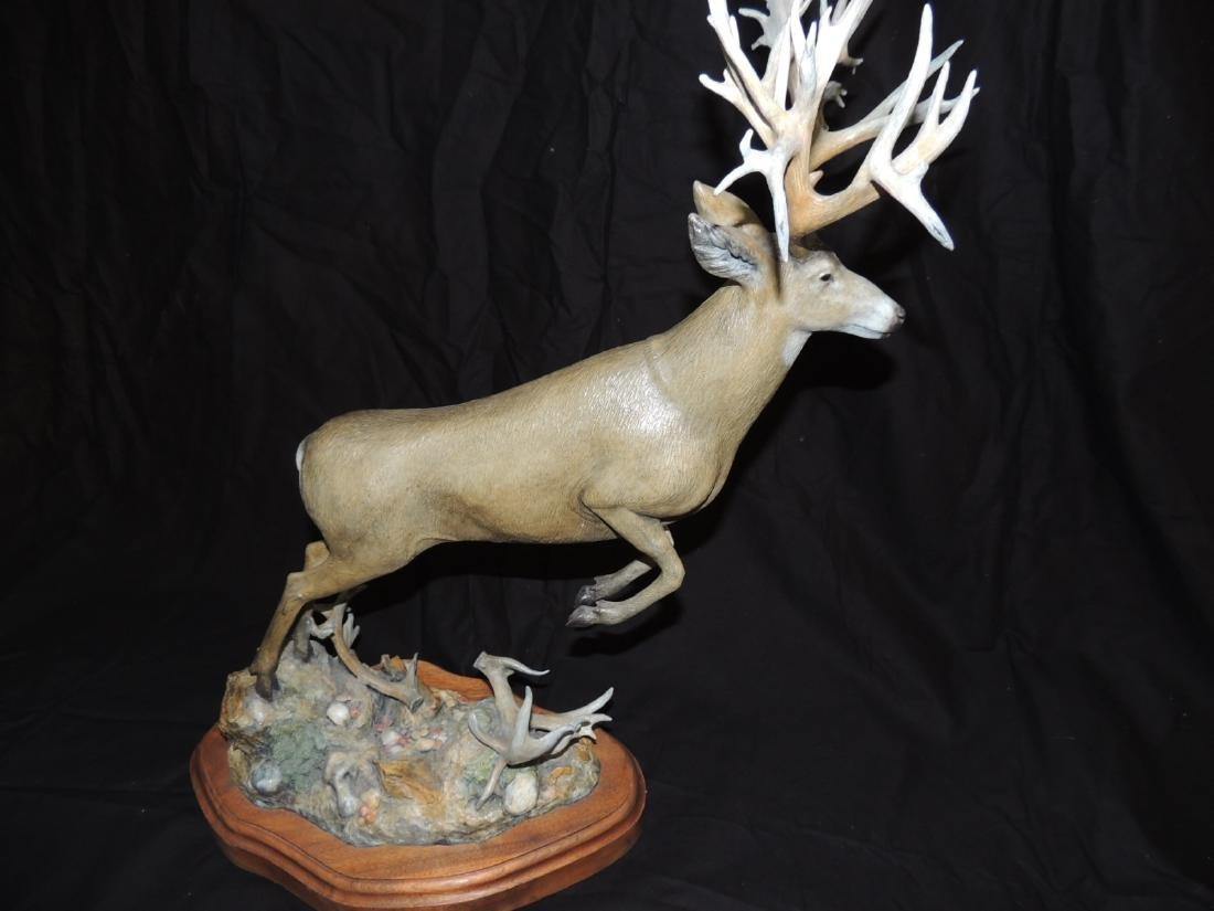 """Bronze Mule Deer Sculpture by Larry Gay 24""""high by 18"""""""