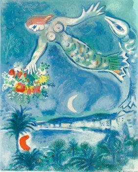 Siren & Fish, Marc Chagall, printed in 1964