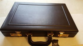 RARE 24K GENUINE LEATHER BRIEFCASE