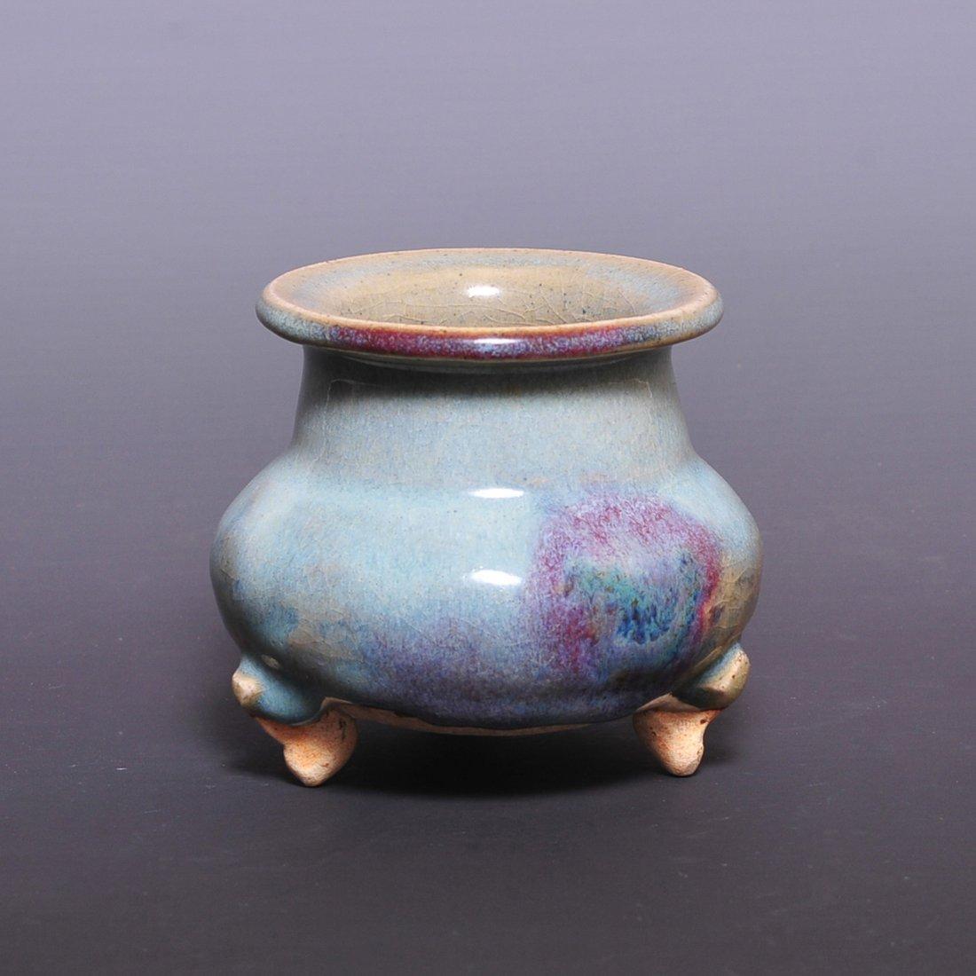 Chinese Yuan Dynasty Jun porcelain hanging red furnace