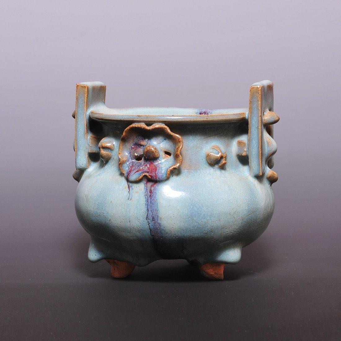 Chinese Yuan Dynasty Jun porcelain  burner