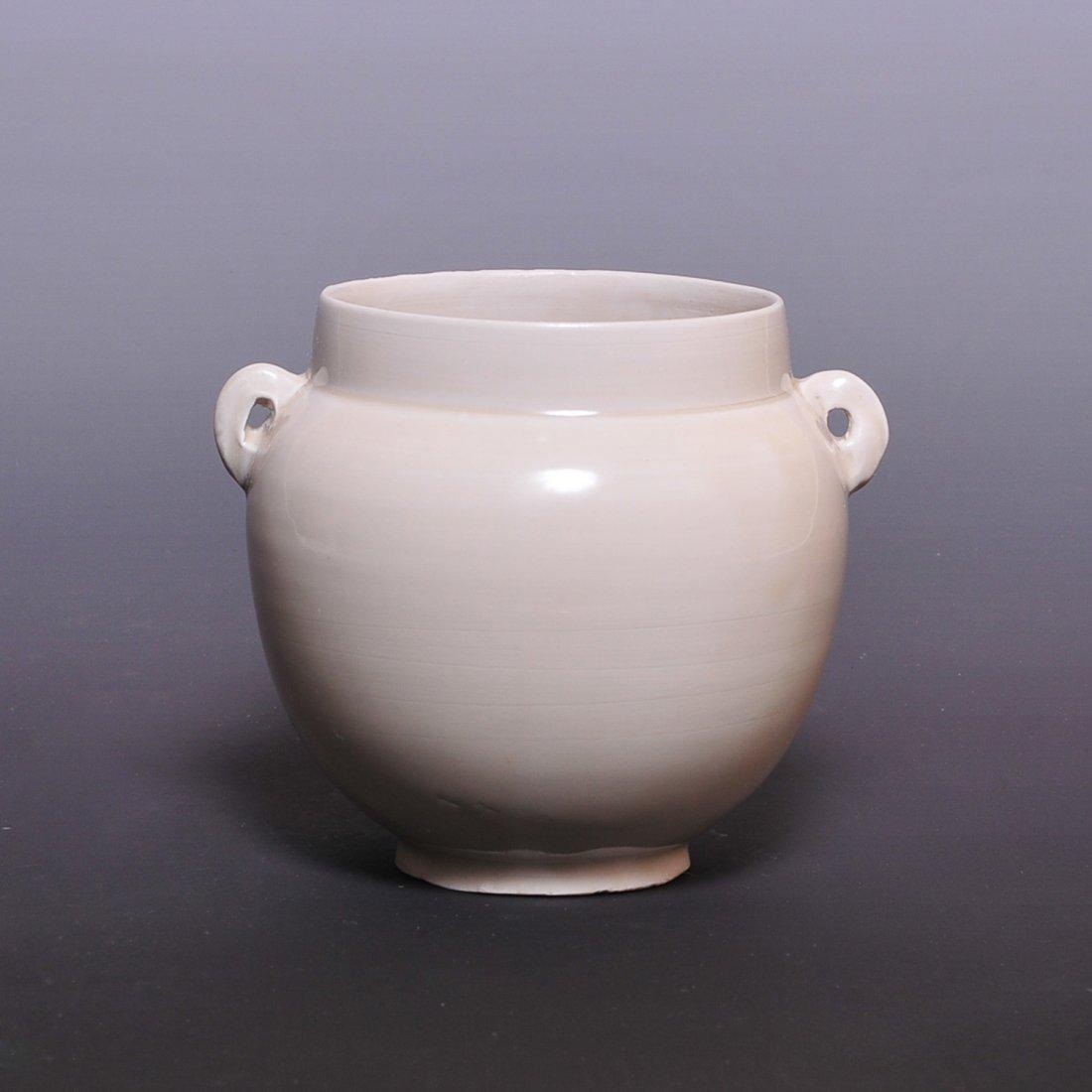 """Jin Dynasty """"Dingyao"""" Double Ear Pot"""