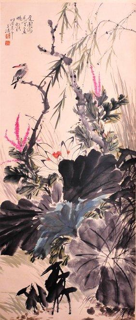 Chinese Scroll Painting ( Wang Xuetao signed)