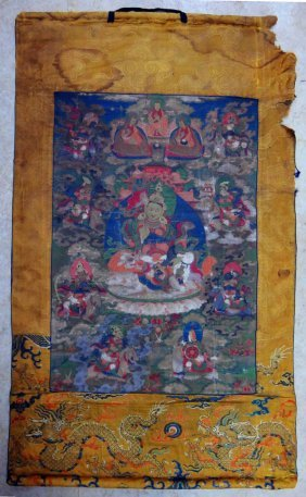 Chinese/Tibet Imperial Palace Thangka, Ming dynasty