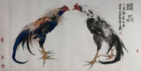 CHINESE PAINTING (Chicken) BY Ma Wendian