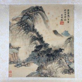 Chinese Landscape painting ( Wang Shimin signed) Print