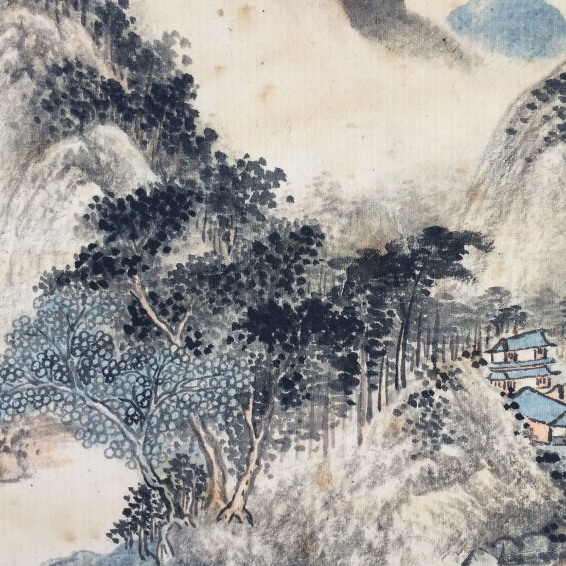 Chinese Landscape painting ( Wang Shimin signed) Print - 2