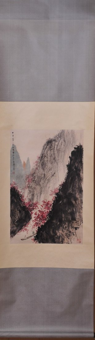 A Chinese Scroll Painting (Attributed to Fu Baoshi)