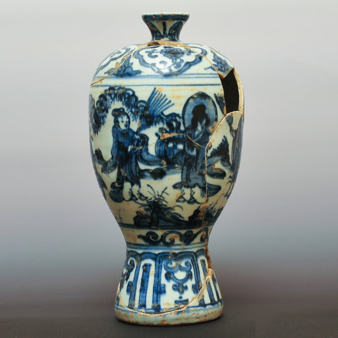 Ming Dynasty, A Chinese Blue and White Porcelain Vase.