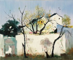 A Chinese Oil Painting (attributed To Wu Guanzhong)
