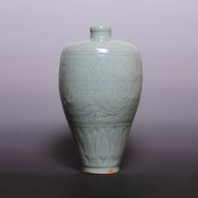 Song Dynasty, A Long Quan Carved Porcelain Mei Ping