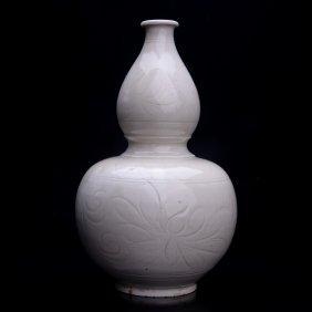 """Song Dynasty, Ding Kiln/ware Porcelain """"gourd"""" Vase"""