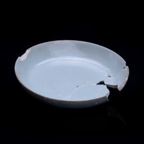Song Dynasty, A Ru Kiln Celeste Glaze Bowl/pen Wash