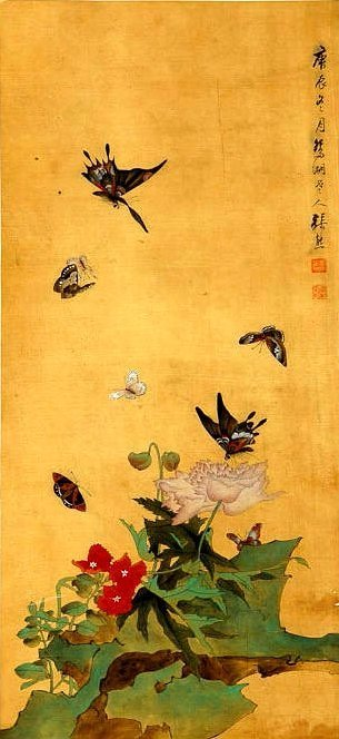 ZHANG XIONG, A CHINESE INK AND COLOR SCROLL PAINTING