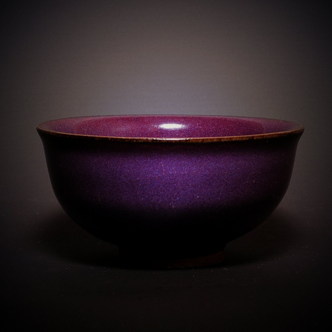 EARLY MING DYNASTY, A ROSE PURPLE PORCELAIN BOWL