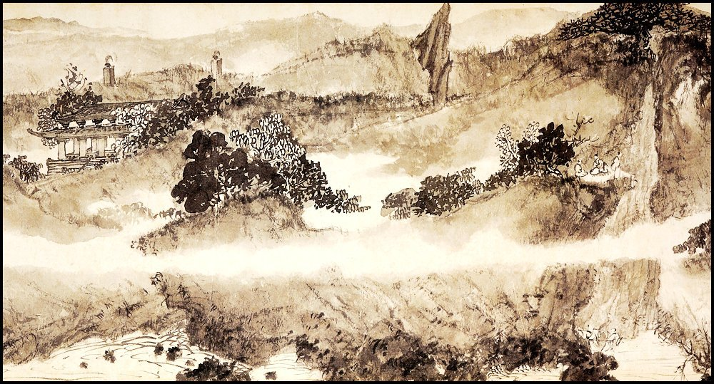 FU BAOSHI, A CHINESE HAND SCROLL MOUNTAIN LANDSCAPE - 4