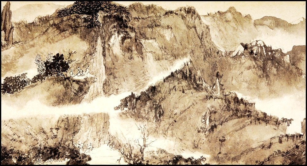 FU BAOSHI, A CHINESE HAND SCROLL MOUNTAIN LANDSCAPE - 5