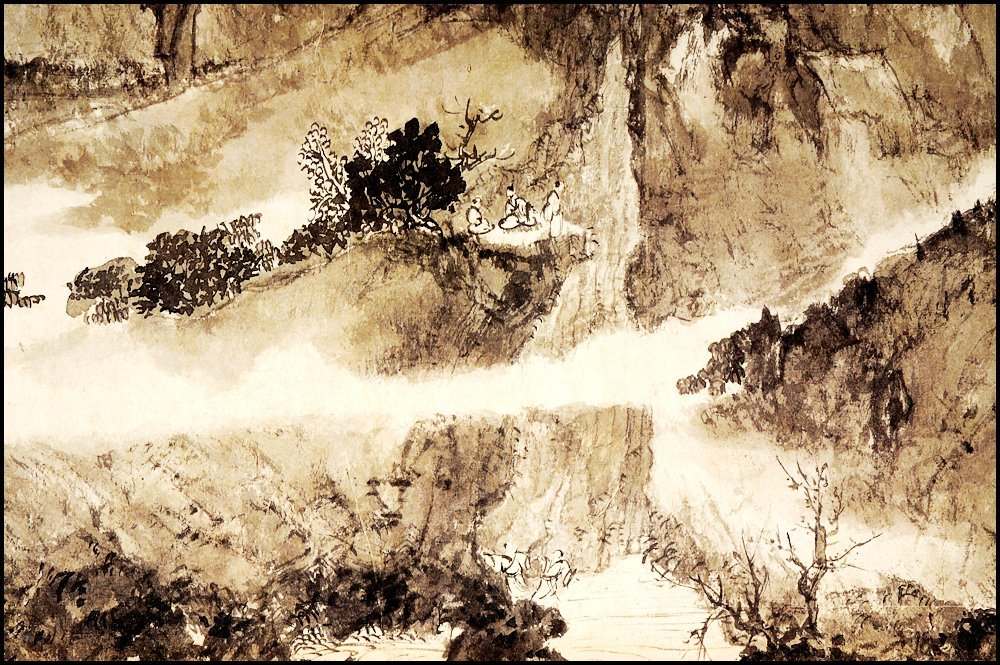 FU BAOSHI, A CHINESE HAND SCROLL MOUNTAIN LANDSCAPE - 6
