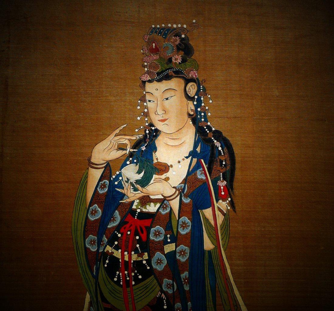 Mid Qing Dynasty Buddha Silk Painting (anonymous) - 3