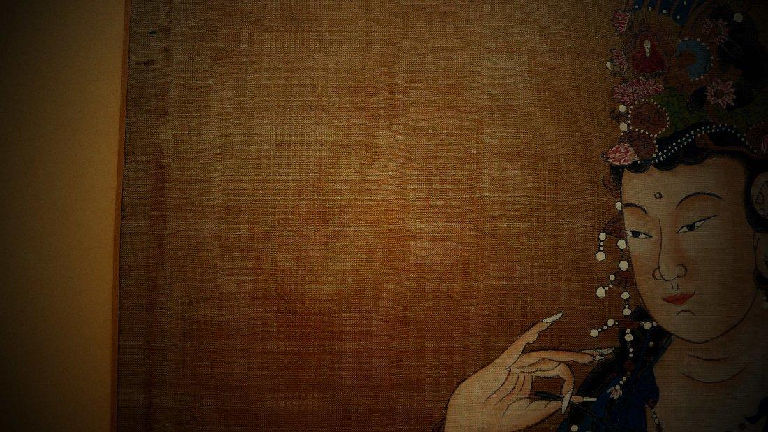 Mid Qing Dynasty Buddha Silk Painting (anonymous) - 4