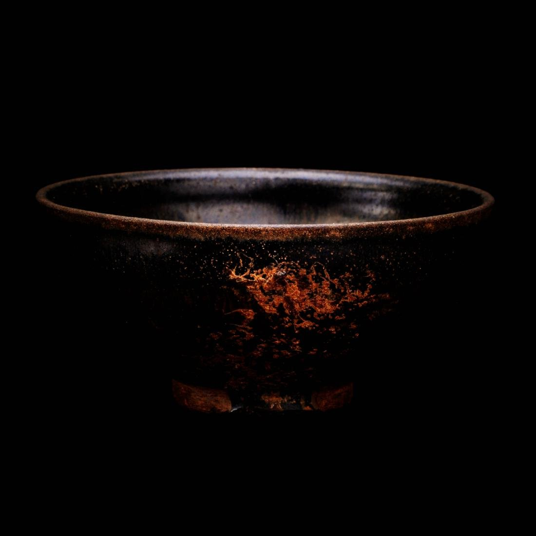SONG DYNASTY, A JIAN KILN (WARE) BLACK GLAZE TUHAO BOWL
