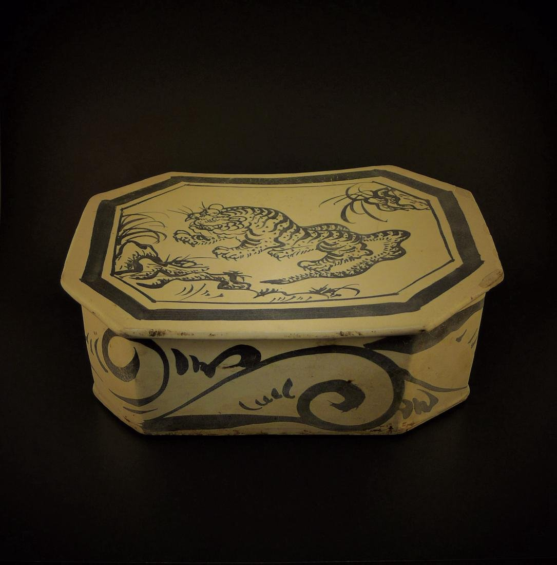 Song Dynasty Cizhou Kiln Pillow with Tiger Pattern