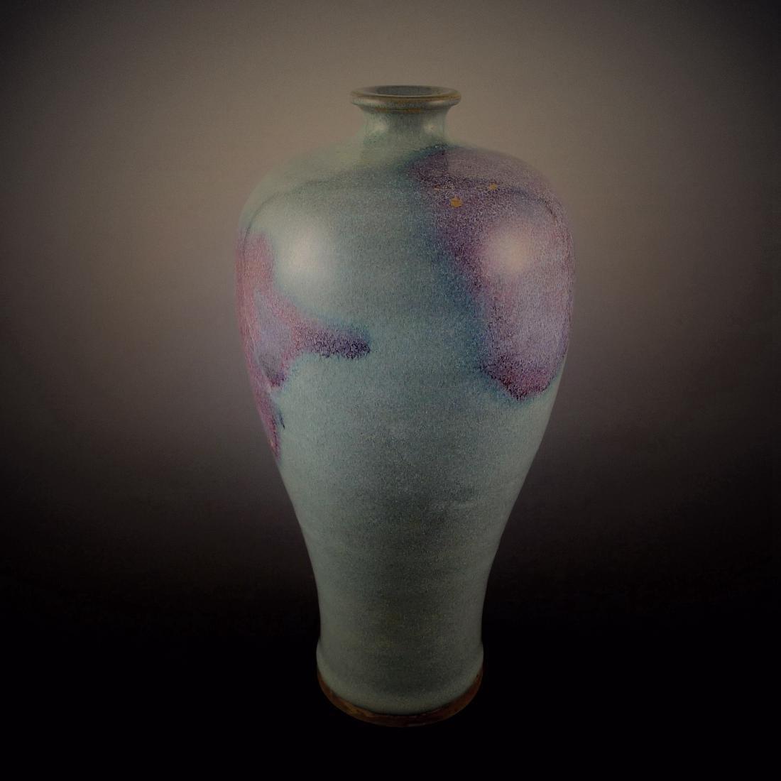 Jin Dynasty Jun Kiln in Red Glaze Plum Vase
