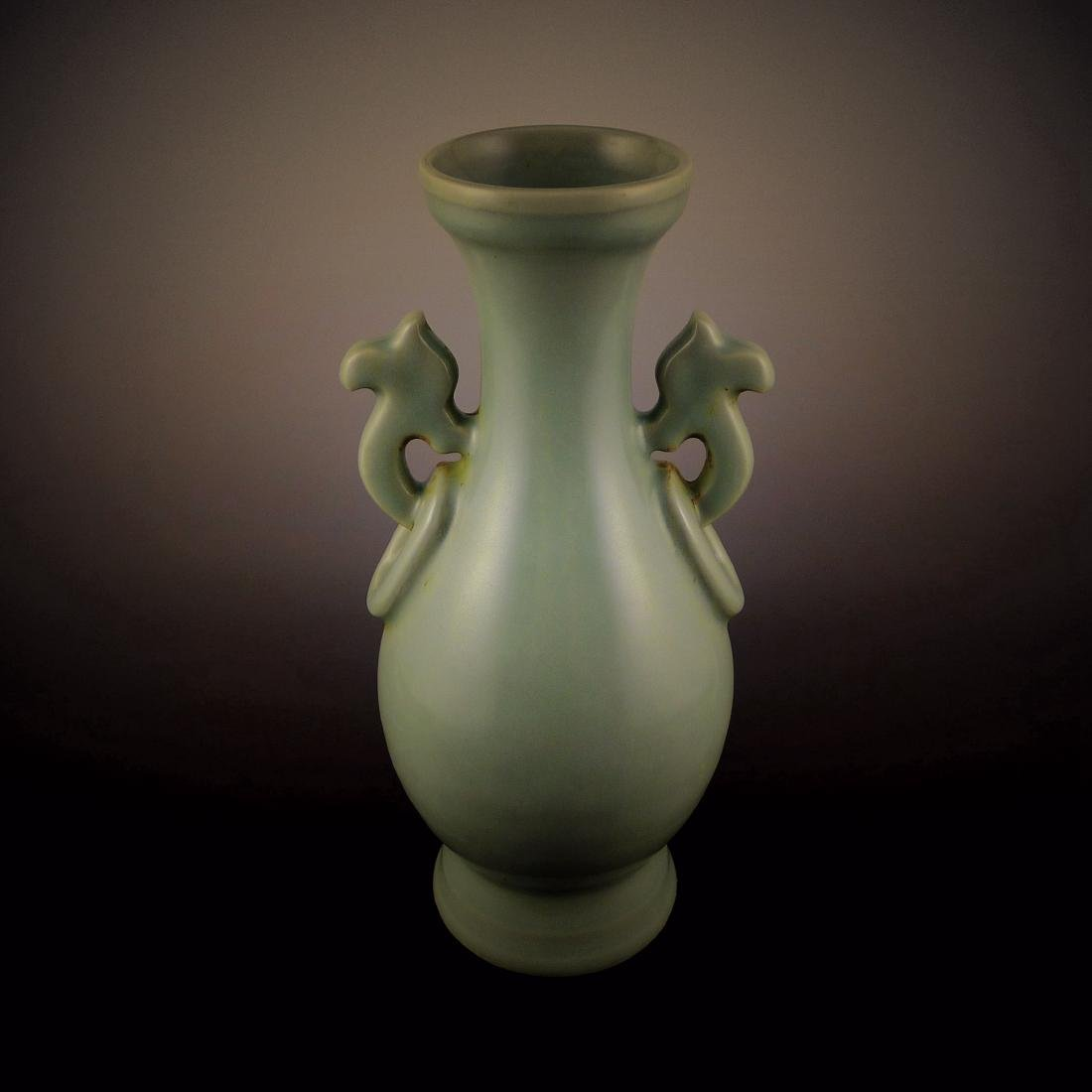 Ming Dynasty Longquan kiln with Beast Ear Vase