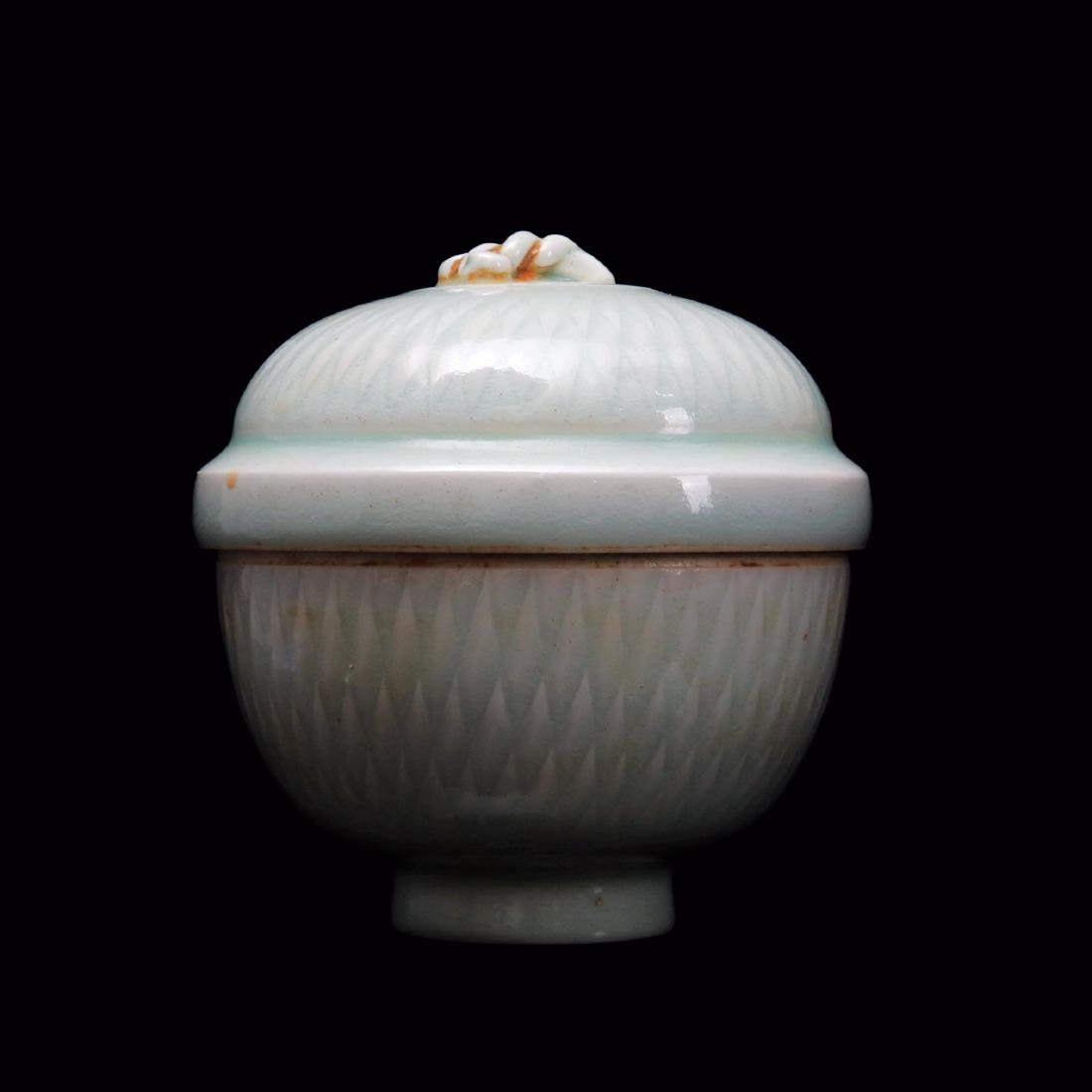 SONG DYNASTY, A YINGQING CARVED PORCELAIN BOWL