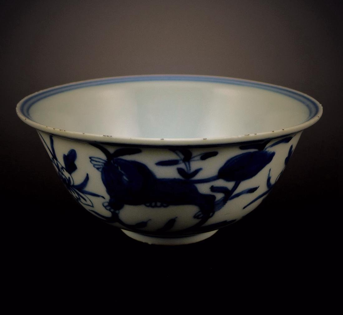 Qing Dynasty blue and white bowl